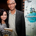 One of the night winners Ms. Angelica Salazar and author Colin Grant